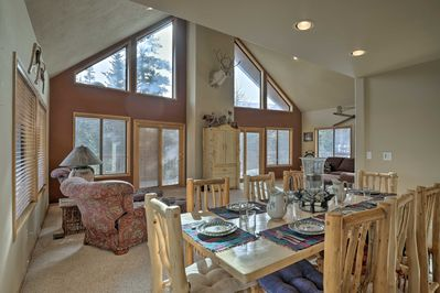 Stay slopeside at this 2,700-square-foot Brian Head vacation rental cabin!