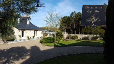 Photo for Domaine du Chatellier with heated pool on 360 hectares of private forest.