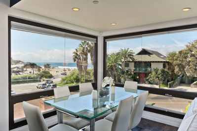 Dining area with View of Beach and Ocean Steps Away