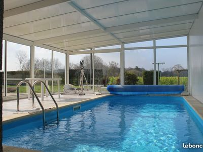 Photo for House of character with covered heated swimming pool