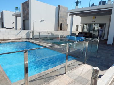 Photo for Private pool,  large roof terrace, short walk to Villamartin Plaza