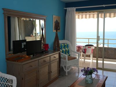 Photo for Volcan Holiday Home: apartment  first line of the ocean, community pool and wifi