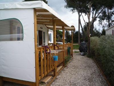 "Photo for Mobile Home on camping ""Maritime Pines"" in Hyères les Palmiers"