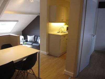 Photo for Two bedroom apartment with private parking in the historical heart of Bruges