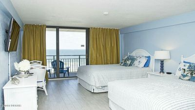 Photo for Direct Ocean front condo with private balcony right on the beach!!!!!