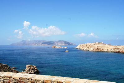 Stunning sea views, Sikinos island in the background
