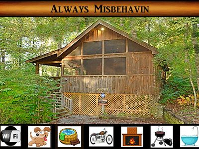 Photo for Always Misbehavin\ pet friendly \ hot tub \  wifi \ fireplace \ jacuzzi