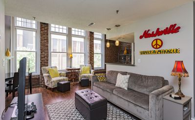 Photo for Walk Everywhere! Beautiful loft downtown! Sleeps 4. Free parking!