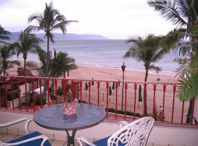 View of the Beach and Bay From Our Terrace