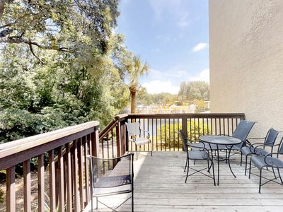 Photo for Lovely townhouse w/ lagoon view, shared pool, hot tub & more!
