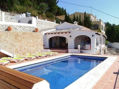 Photo for family-friendly holiday house with pool and sea views, children welcome, WiFi
