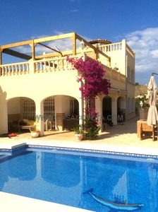 Photo for LUXURY DETACHED VILLLA FOR 10 PERSONS, PRIVATE POOL, WIFI, A/C IN ALL ROOM
