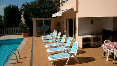 Photo for Large Villa With Private Pool, Sea Views And Walking Distance To Town And Beach!