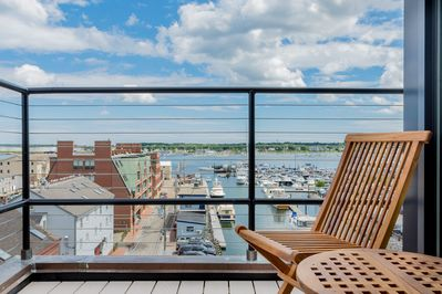 Private deck overlooking the Dimillo's marina. Watch the yachts come and go.