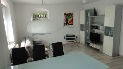 Photo for 2 bedrooms with double beds - 3-room apartment 72 square meters directly to the State Garden Show 2015