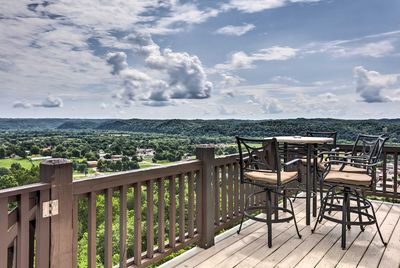 Soak up the 20 mile view from the private balcony!