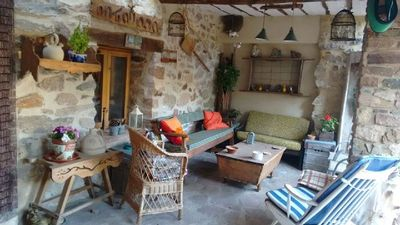 Photo for Rural apartment with exclusive patio in Casa Rural La Tabarreña for 4 people