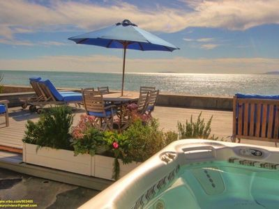 Photo for Rare on the Sand - Luxury & Romantic Seaside Ocean Front Getaway