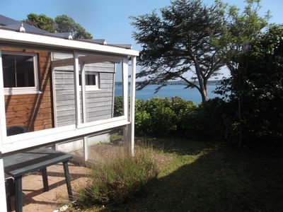 Photo for Wooden chalet sea view, large garden.