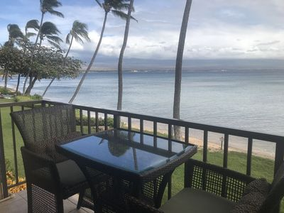 Photo for Maui Spectacular Prime Beach Front View Steps To The Sand!