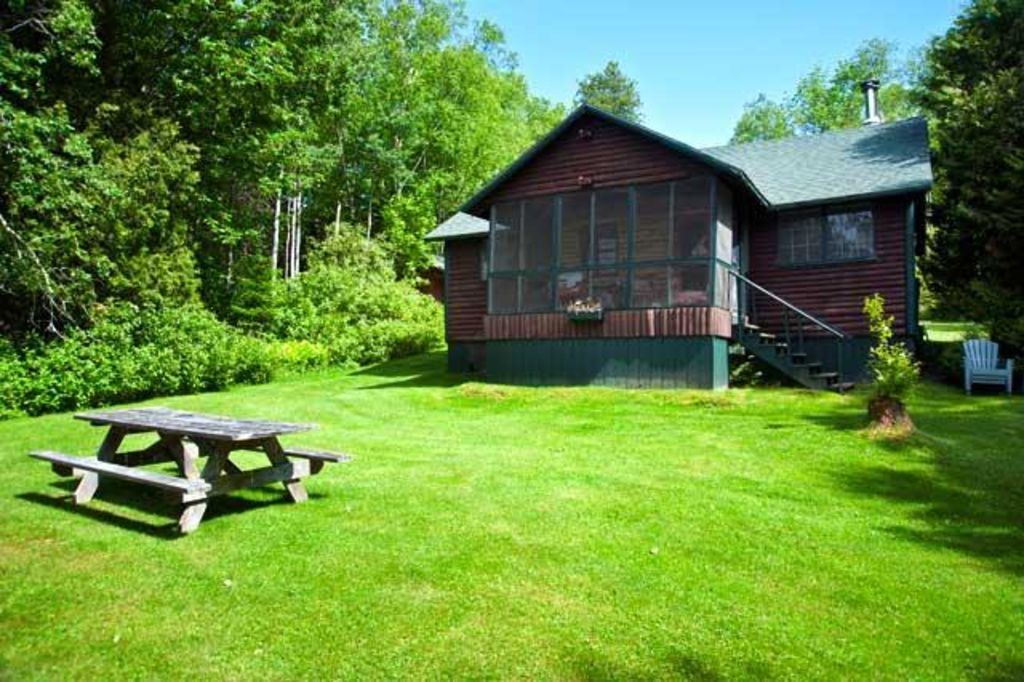 Very charming and private setting on over 4 vrbo for Cabin rentals in maine with hot tub