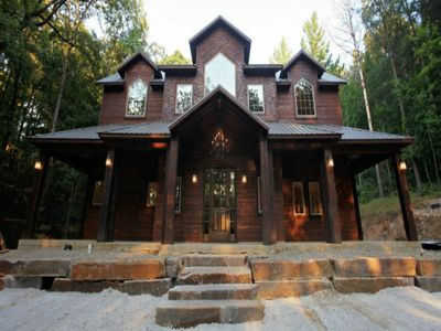 Photo for The Rustic Lodge is a 3500 square feet wonderland with fantastic views.