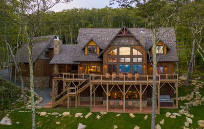 Photo for Overlook Lodge at Eagles Nest: BREATH TAKING VIEWS! Game Room, hot tub, summer concerts!