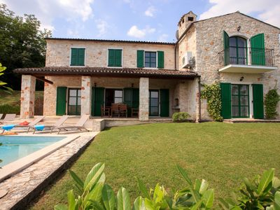 Photo for Spacious villa with 10x5m pool, aircon.  Rural retreat,  stunning views.