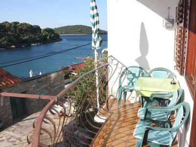 Photo for Two bedroom apartment with balcony and sea view Maslinica (Šolta)