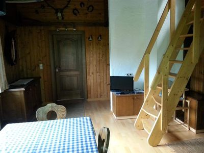 Photo for Apartment No. 1- (7p) / 3 bedrooms / 2 bathrooms, - spruce log cabin