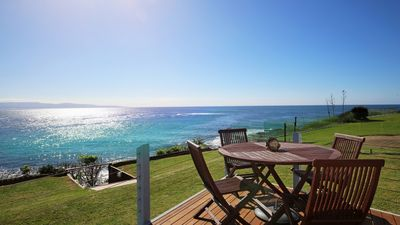 Photo for The Headland. Absolute Waterfront with 180 degree views! Dog friendly.