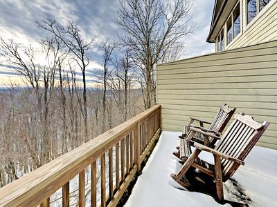 Deck - Head to the private back deck to enjoy spectacular mountain views.