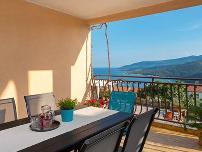 Photo for ArtApArt D with a beautiful seaview for 5 persons in Rabac