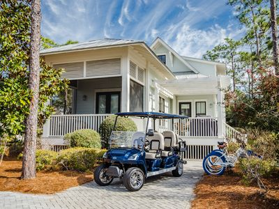 Photo for Golf Cart! 2 Master suites! BBQ Grill. Steps from Frog Pool in Lake District!