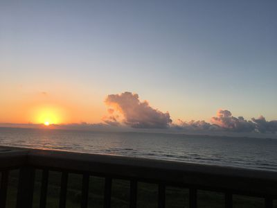 Sunrise from the front living room balcony