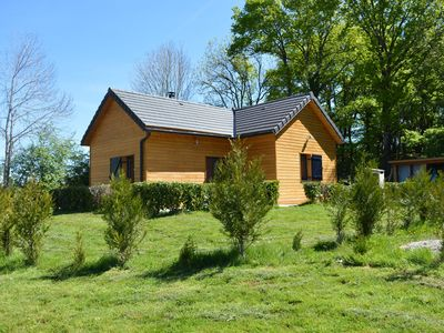 Photo for COTTAGE WITH COMFORTABLE WOODEN CHALET SPA MAURIAC A NEAR SALERS