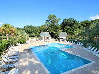 Photo for Intimate yet spacious villa w/ shared pool & tennis - walk to the beach!