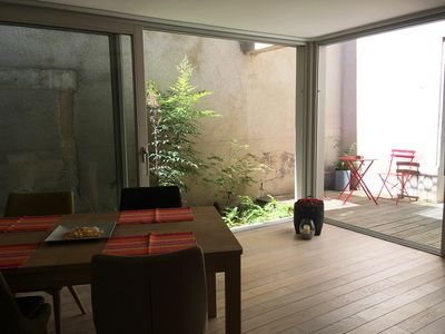 Photo for Large studio with patio, downtown, 8 minutes walk Stanislas square