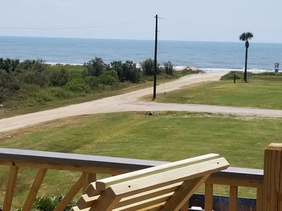 Photo for Awesome View! Steps from beach!  2 Family areas, WIFI & ROKU, Pet & kid friendly