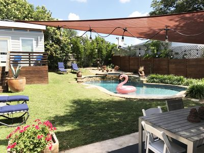 Photo for Fun Hip Home + Guesthouse in Austin's SoCo! Perfect For ACL/SXSW! POOL & HOT TUB