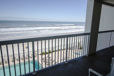 Direct oceanfront view from inside the unit