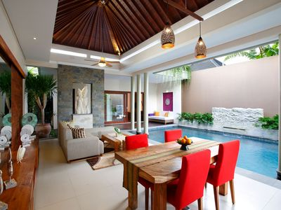 Photo for 1 BR Private Pool Villa, 5 mnts walking to the Beach and Seminyak shopping area