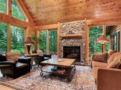 Photo for Upscale rural cabin w/lake views, fire pit by the lake, magnificent nature views