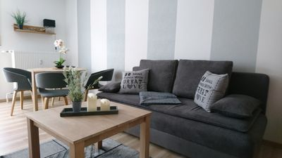 Photo for Modern apartment for 2-4 people in a quiet location / pets allowed
