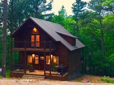 Photo for Built in 2018 Private, ROMANTIC yet family friendly, within mins of town/lake