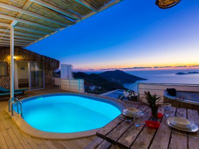 Photo for Secluded Honeymoon Villa in Kalkan,with Spectacular Views, Sleeps 2