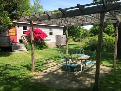 Pergola with outside dining