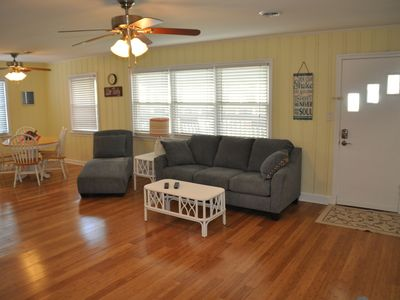 Photo for Steps to the beach.  Pet friendly Beach House w/pool!  4 Bedrooms sleeps 12!