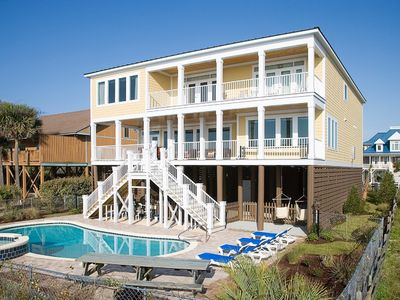 Photo for Oceanfront Myrtle Beach Home - Sleeps 26. 8 Bedrooms + 8.5 Bathrooms!