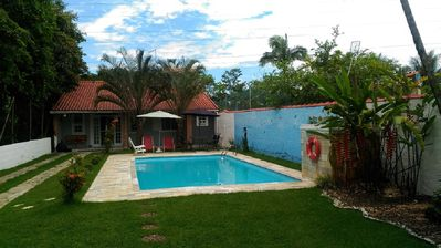 Photo for Single storey house with pool, next to the woods and near the Shopping Center